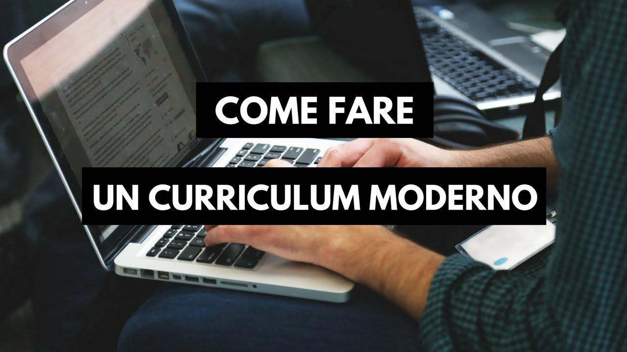 E Fare Un Curriculum Vitae Moderno